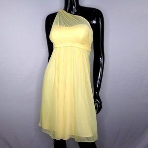 David's Bridal Canary Yellow Bridesmaid Dress